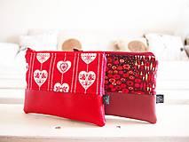 Taštičky - Kozmetické taštičky malé - srdcia,Klimt - 10439583_