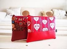 Taštičky - Kozmetické taštičky malé - srdcia,Klimt - 10439586_