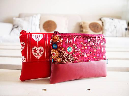 Kozmetické taštičky malé - srdcia,Klimt