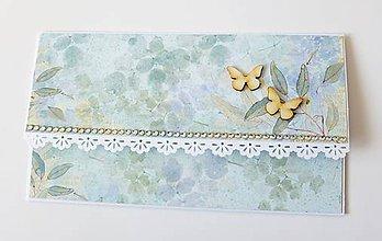 Papiernictvo - svadobná darčeková obálka na peniaze - 10439539_