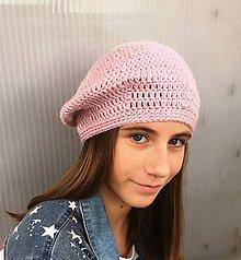 Čiapky - Baretka French chic - pastelová. (Ružová) - 10440869_