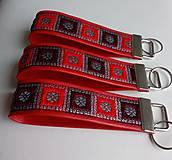 Kľúčenky - Kľúčenka - červená I. - 10442179_