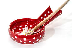 Nádoby - Vareškár - červený s bodkami - 10439913_