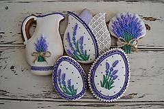 Dekorácie - Medovníky Lavender č.1 - sada 5ks - 10439249_