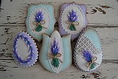 Dekorácie - Medovníky Lavender č.2 - sada 5ks - 10439282_