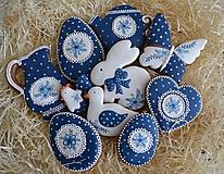 Dekorácie - Veľkonočná sada Modrotlač 10ks - 10439492_