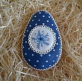 Dekorácie - Veľkonočné vajíčko Modrotlač - 10439558_