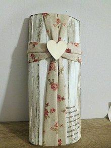 Dekorácie - folkový krížik na masívnom dreve 2 - 10438731_