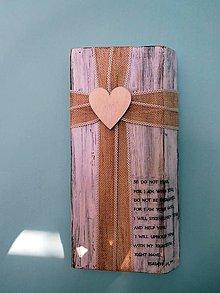 Dekorácie - folkový krížik na masívnom dreve 3 - 10438746_