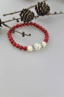 Náramky - koral a perleť náramok luxusný - 10441254_