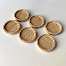 Komponenty - 6ks| Dřevěné lůžko 18 mm - 10441415_