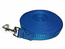 Pre zvieratká - Vodítko stopovacie modré (Š: 2cm) - 10440317_