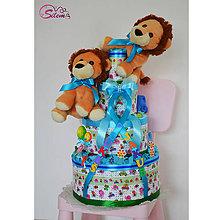 Detské doplnky - Plienková torta DVOJIČKY - 10442086_