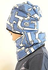 nákrčník z biobavlny Potrubie (modrý)