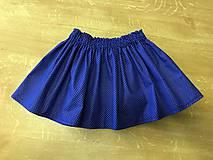 Detské oblečenie - Detská suknička - Modra bodočka. - 10439841_