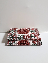 Úžitkový textil - Maľovaný stredový obrus - biely, 120 x 40 cm - 10438671_