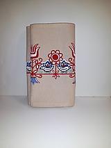 Úžitkový textil - Maľovaný obrus stredový - béžový, 30 x 139 cm - 10438988_