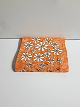 Maľovaný obrus stredový - oranžový melír, 21 x 122 cm