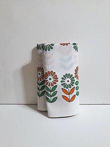 Úžitkový textil - Maľovaný obrus stredový - biela, 36 x 139 cm - 10439218_