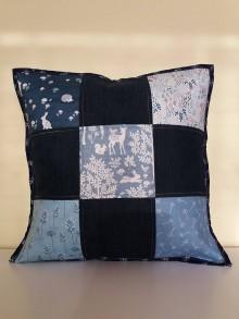 Úžitkový textil - Patchworková návliečka na vankúš - lesné zvieratká - 10438376_