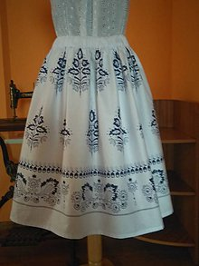 Sukne - Sukňa bordurova biela - 10439565_