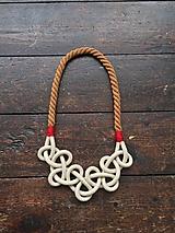Náhrdelníky - Hnědočervené lano - 10439365_
