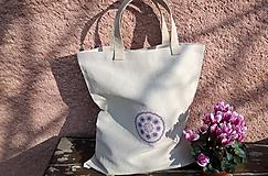 Nákupné tašky - Nákupná ľanová taška - 10439384_