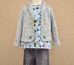 Detské oblečenie - Dievčenský svetrokabátik - 10441934_