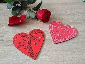 Magnetky - Magnetka srdce - 10441384_