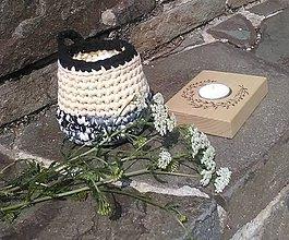 Svietidlá a sviečky - Sójové čajové sviečky TUCET v RECYkošíku - 10440013_