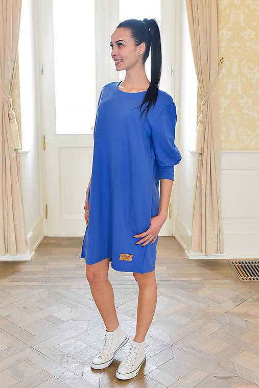 f6bb699a5718 Dámske šaty Oversize FARFALLA BLUE (viď obrázok veľkostná tabuľka ...