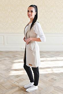 Iné oblečenie - Dámska vesta BEIGE - 10438705_