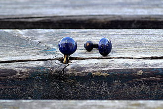 Náušnice - Lapis lazuli klipsne starobronz - 10440380_