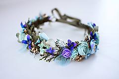 Ozdoby do vlasov - Nežný kvetinový venček s krídlami vážky - 10438077_