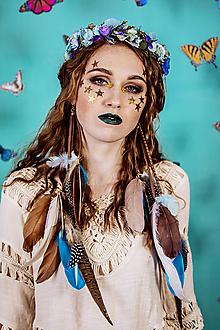 Ozdoby do vlasov - Nežný kvetinový venček s krídlami vážky - 10438079_