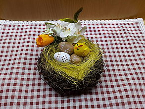 Dekorácie - Veľkonočné hniezdo - 10438065_