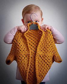 Detské oblečenie - Háčkovaný kardigan pre deti - 10442019_