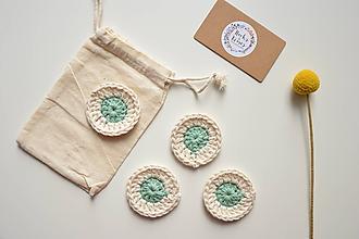 Úžitkový textil - Eko 100% bavlnené háčkované odličovacie tampóny - 10442038_