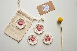 Úžitkový textil - Eko 100% bavlnené háčkované odličovacie tampóny - 10442045_
