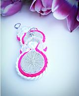 Náušnice - Pink dream - 10440219_