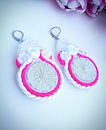 Náušnice - Pink dream - 10440225_