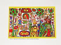 ZÁHRADA - maľovaný obrázok 14,5 x 21 cm