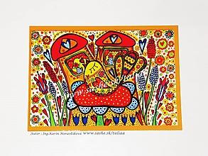 Obrazy - VTÁČIK - maľovaný obrázok 14,5 x 21 cm - 10442209_