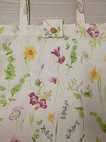 Nákupné tašky - Látková taška s kvetinovým vzorom - 10440507_
