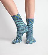 Obuv - Vlnené ponožky - tyrkys (36 - 37) - 10441694_