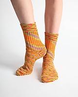 Obuv - Vlnené ponožky - oranžové (38 - 39) - 10441774_