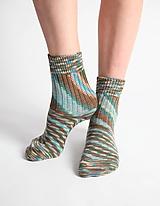 Vlnené ponožky - modrohnedé