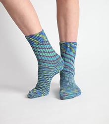 Obuv - Vlnené ponožky - tyrkys - 10441694_