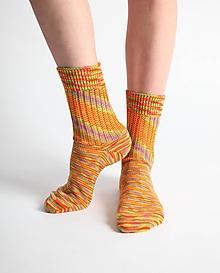 Obuv - Vlnené ponožky - oranžové - 10441774_