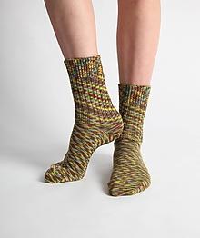 Obuv - Vlnené ponožky - khaki - 10441855_